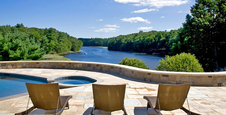 Custom Home Design with exquisite inground pool